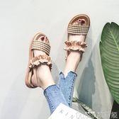 涼鞋女夏季學生百搭超火仙女風羅馬平底鞋潮   歌莉婭