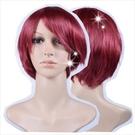 【微捲髮.短髮造型】人戴全頂假髮(化纖)5227#艷麗紅 [43329]