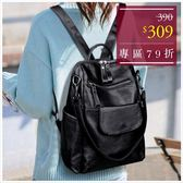 後背包-大口袋皮革多用途肩背/後背包-單1款-A12121539-天藍小舖