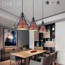餐廳吊燈簡約現代客廳吧臺燈飾三頭鉆石燈具...