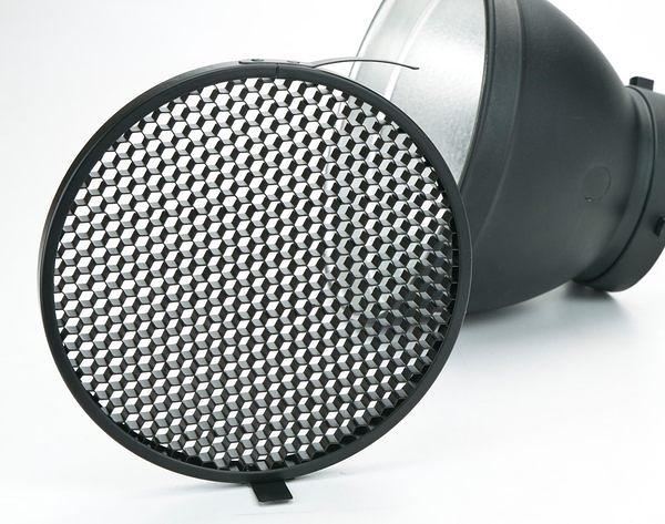 呈現攝影-18cm 蜂巢罩 6x6mm中號18cm標準罩專用 全金屬 可上棚燈 L型傘座+標準罩組可用 離機閃