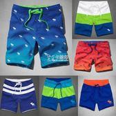 新款五分沙灘褲男速乾大碼海邊沖浪褲寬鬆溫泉泳褲潮   卡菲婭