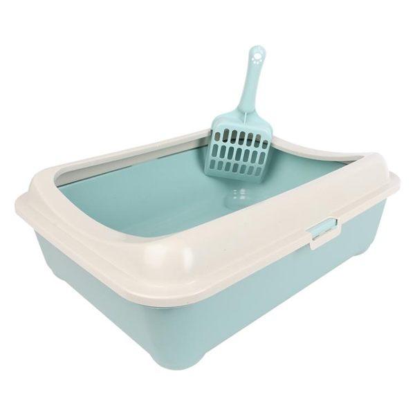 貓砂盆半封閉貓廁所貓沙盆單層