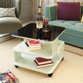 茶几桌 邊几現代簡約沙發邊几客廳移動角几迷你小茶几鋼化玻璃話几床頭柜igo 俏腳丫