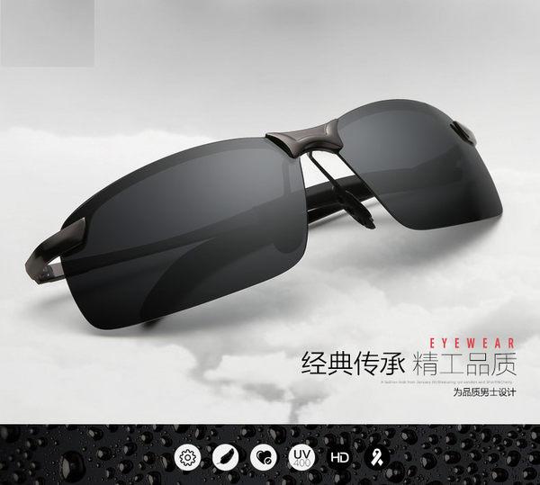 男個性方形偏光太陽眼鏡 潮流炫彩高清潮墨鏡 開車駕駛太陽眼鏡
