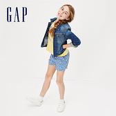 Gap 女童 時尚水洗鈕釦牛仔外套 368828-牛仔色