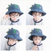 兒童冬帽 兒童漁夫帽秋冬新款男童帽子恐龍女童盆帽小孩燈芯絨保暖防風寶寶 歐歐