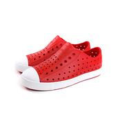 native JEFFERSON 懶人鞋 洞洞鞋 紅色 小童 童鞋 13100100-6400 no069