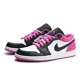 NIKE 籃球鞋 JORDAN 1 喬丹一代 低筒 AJ1 黑粉 麂皮 男 (布魯克林) CK3022-005