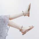 涼鞋女夏平底2021年新款韓版百搭配裙子溫柔仙女風軟底羅馬女鞋 黛尼時尚精品