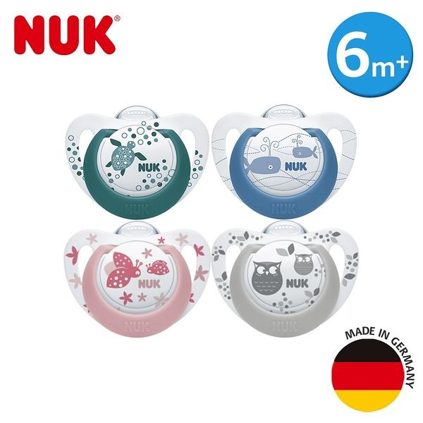 德國NUK-Genius矽膠安撫奶嘴-一般型6m+/2入(花色隨機)