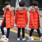 童裝男童棉衣新款冬裝兒童中大童棉襖外套冬季中長款羽絨棉服 艾美時尚衣櫥