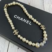 BRAND楓月 CHANEL 香奈兒 雙C LOGO 大珍珠 整串珍珠 項鍊 頸飾 飾品 配件