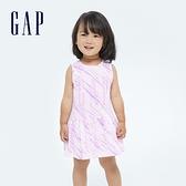 Gap嬰兒 Logo純棉紮染背心裙套裝 682812-淺紫色
