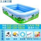 家庭嬰兒童充氣游泳池加厚小孩海洋球池 【米蘭街頭】igo