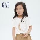 Gap女童 童趣純棉雙面亮片短袖T恤 697515-白色