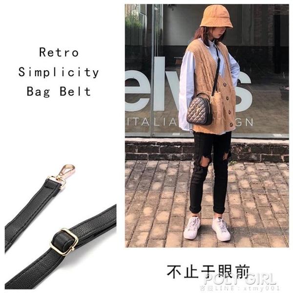 黑色包帶側背包肩帶斜背女士包包帶子包配件帶皮包背包帶子寬斜跨 夏季新品
