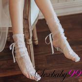 【性感睡衣內衣褲絲襪】飄渺紗衣-性感透視蕾絲綁帶絲襪配件-白色.蕾絲 冰絲 大腿襪