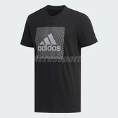 adidas T恤 GFX T Foil Bos 黑 銀 大Logo 圓領 男款 短袖上衣 【ACS】 DY8658