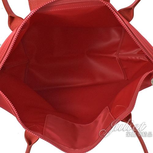 茱麗葉精品【全新現貨】Longchamp Le Pliage 折疊長揹帶肩提包.牡丹紅 #1899