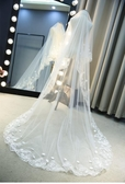 新娘頭紗婚紗新款韓式長拖尾頭紗頭飾