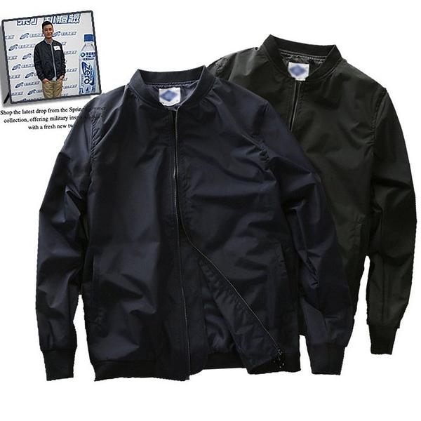 《澤米》男日系潮牌夾克外套 休閒棒球外套 飛行外套 潮流薄外套 (全館任二件商品免運費)