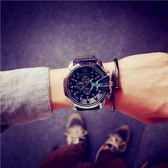 韓版個性大錶盤手錶男士手錶時尚防水石英錶【全館低價限時購】