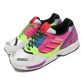 adidas 休閒鞋 adidas x Overkill ZX 8500 白 桃紅 男鞋 聯名款 經典 復古款【ACS】 GY7642