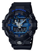 CASIO G-SHOCK 霸氣絕對強悍時尚腕錶-黑x藍 GA-710-1A2