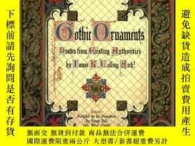 二手書博民逛書店Gothic罕見ornament《哥特式裝飾》的合輯Y34294