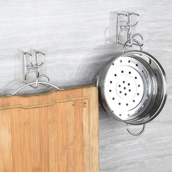不鏽鋼 臉盆 掛勾 耐重 吊掛 掛臉盆架 掛架 壁掛 廁所 免釘 黏勾 牆壁 收納架 【P422】慢思行