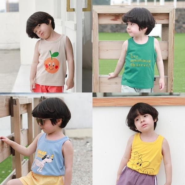 寶寶背心薄款純棉夏季2歲3男童無袖吊帶上衣外穿夏裝小童跨欄背心 茱莉亞