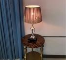 110V-220V 臥室床頭燈高貴時尚現代溫馨紫色檯燈--不送光源