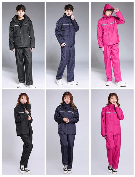 【G2802】《衣褲兩件組!雙層透氣》兩件式雨衣 雙層雨衣 加厚雨衣 機車雨衣 雨衣套裝 反光雨衣