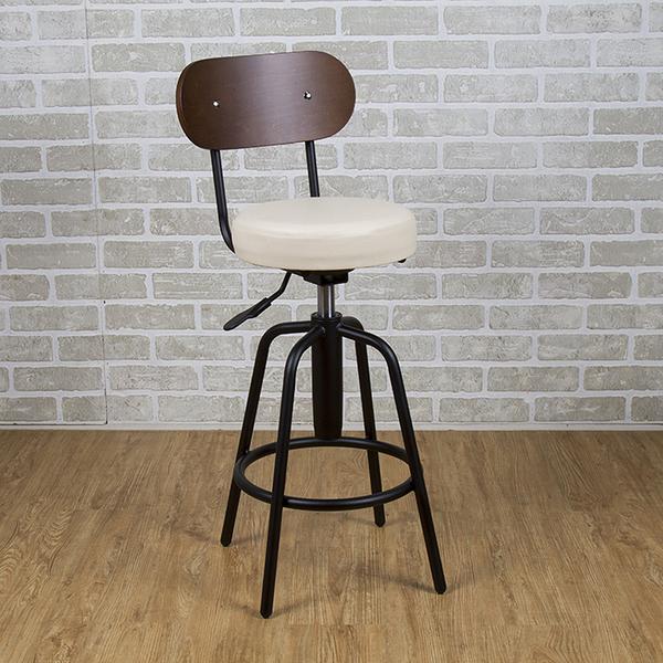吧台椅/日式吧台椅/吧台桌椅/升降椅/曲木 (米白色)MIT台灣製【61201-IV】Tasteful 特斯屋