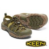 【KEEN 美國】NEWPORT H2男護趾水陸兩用鞋『橄欖綠/淺綠』1017343 健行 涼鞋 露營