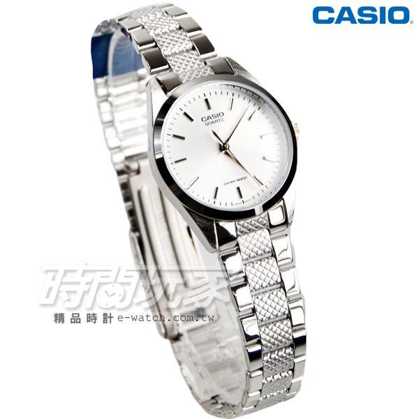 CASIO卡西歐 LTP-1274D-7A 經典貴氣時尚指針腕錶 不銹鋼 日常防水 女錶 白 LTP-1274D-7ADF