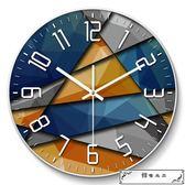 北歐鐘表掛鐘客廳創意現代時鐘石英鐘表掛表臥室靜音個性大號家用