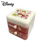 【日本正版】TSUM TSUM 二抽 塑膠收納盒 抽屜盒 置物盒 桌面收納 迪士尼 Disney - 082421