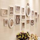 照片牆歐式實木相框牆客廳沙發背景相片牆相...