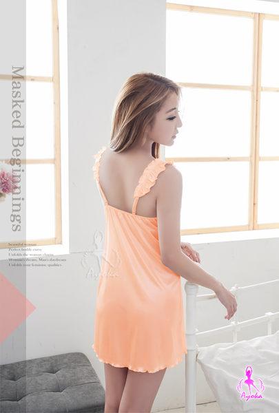 睡衣 甜心蜜橘低胸一件式睡衣 (OS小舖)