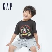 Gap男童 Gap x Disney 迪士尼系列純棉短袖T恤 696918-炭黑色