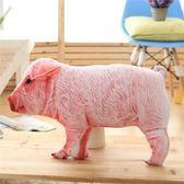 創意卡通仿真豬豬抱枕公仔靠墊睡覺枕頭仔豬玩偶娃娃生日禮物女生【美物居家館】