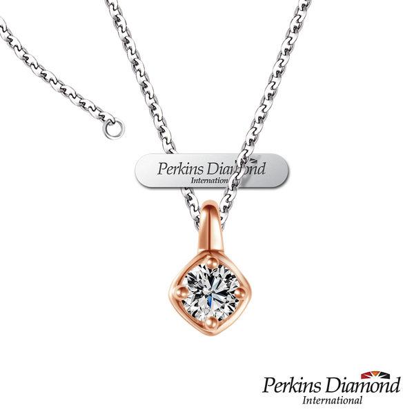 鑽石項鍊 PERKINS 伯金仕14K玫瑰金 Cute系列 0.18克拉鑽石項鍊