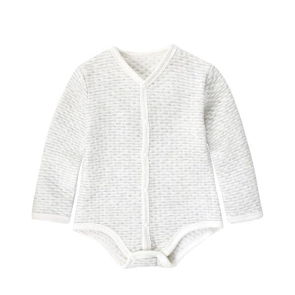 空氣棉包屁衣 彩棉條紋長袖爬衣保暖內搭連體衣 親膚居家連身衣 92013