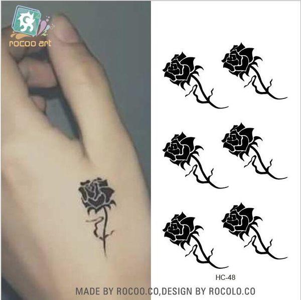 玫瑰花 紋身貼 虎口 紋身 貼紙 防水 紋身 貼紙 花朵 刺青