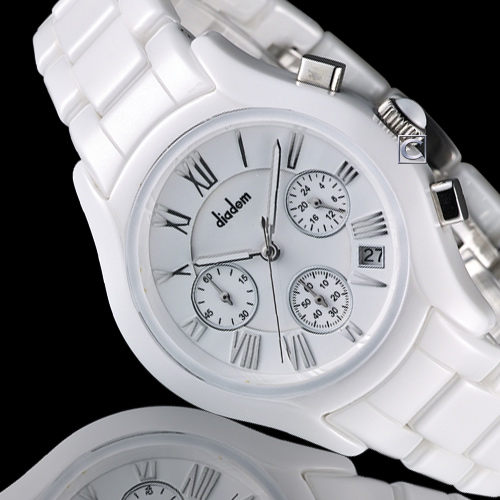 Diadem 黛亞登 優雅名媛陶瓷計時腕錶 2D1407-521S-W