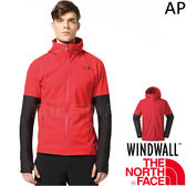 The North Face 3CHC-682紅 TNF男防風防水外套 亞規 WindWall戶外機能服/運動風衣/登山軟殼衣