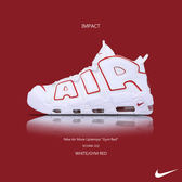 IMPACT Nike Air More Uptempo Gym Red 大AIR 白 紅 皮朋 921948-102