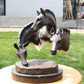 斑馬頭 青銅雕塑像 工藝品